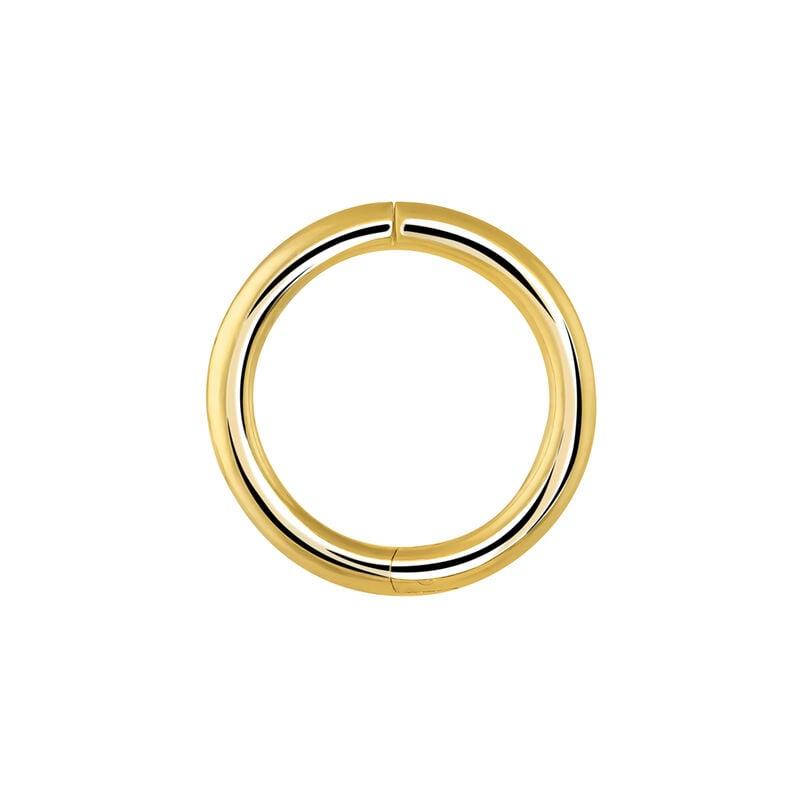 Medium gold hoop earring piercing, J03843-02-H, hi-res