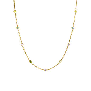 Yellow gold gemstone mix necklace, J03765-02-AMPESB, hi-res