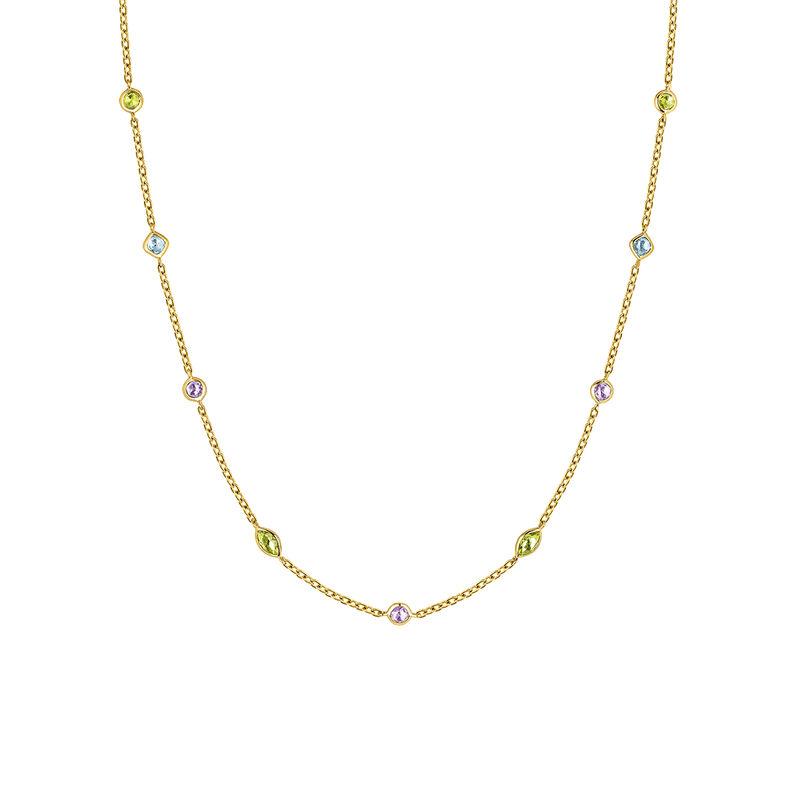 Collier mix pierres or jaune, J03765-02-AMPESB, hi-res