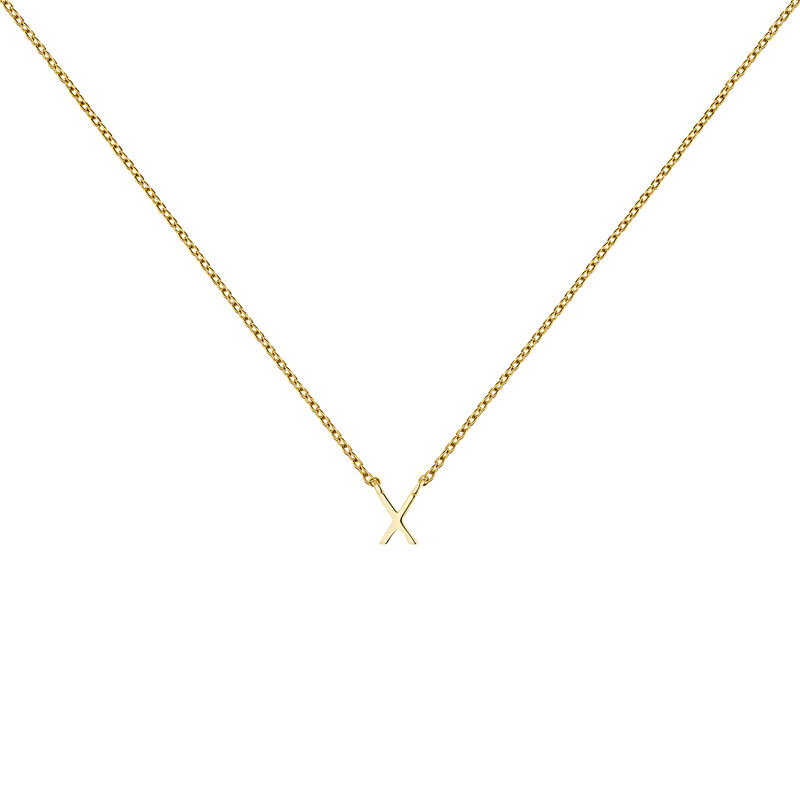 Collier initiale X or, J04382-02-X, hi-res