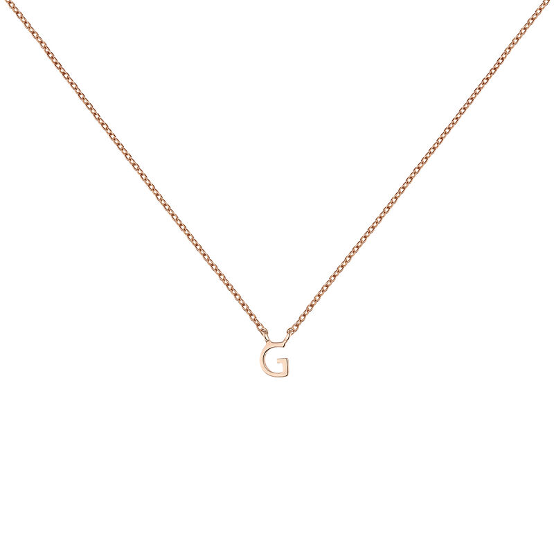 Rose gold Initial G necklace, J04382-03-G, hi-res