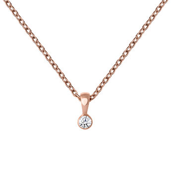 Rose gold topaz necklace, J03693-03-WT, hi-res