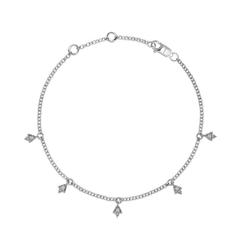 Pulsera triángulos diamantes oro blanco 9kt, J04500-01, hi-res