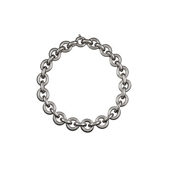 Silver flat rolo necklace, J00046-01, hi-res