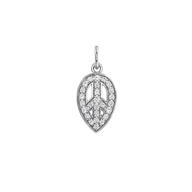 Silver peace sign necklace, J03823-01-WT, hi-res