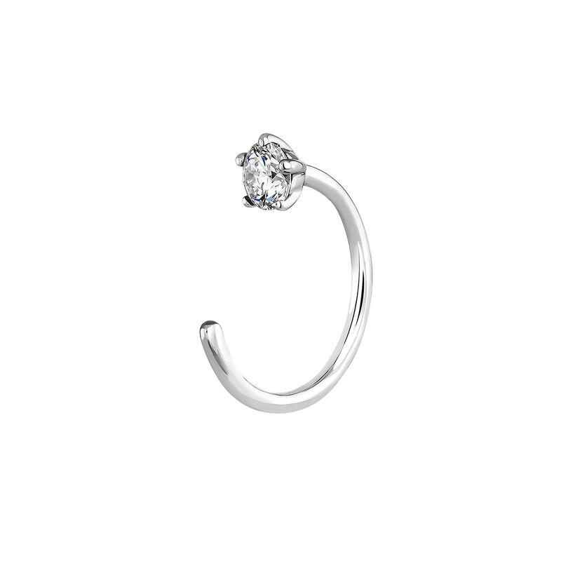 White gold diamond cartilage ring 0.062 ct, J03928-01-H, hi-res