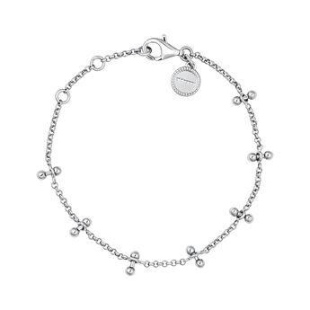 Silver piercing bars bracelet, J04327-01, hi-res