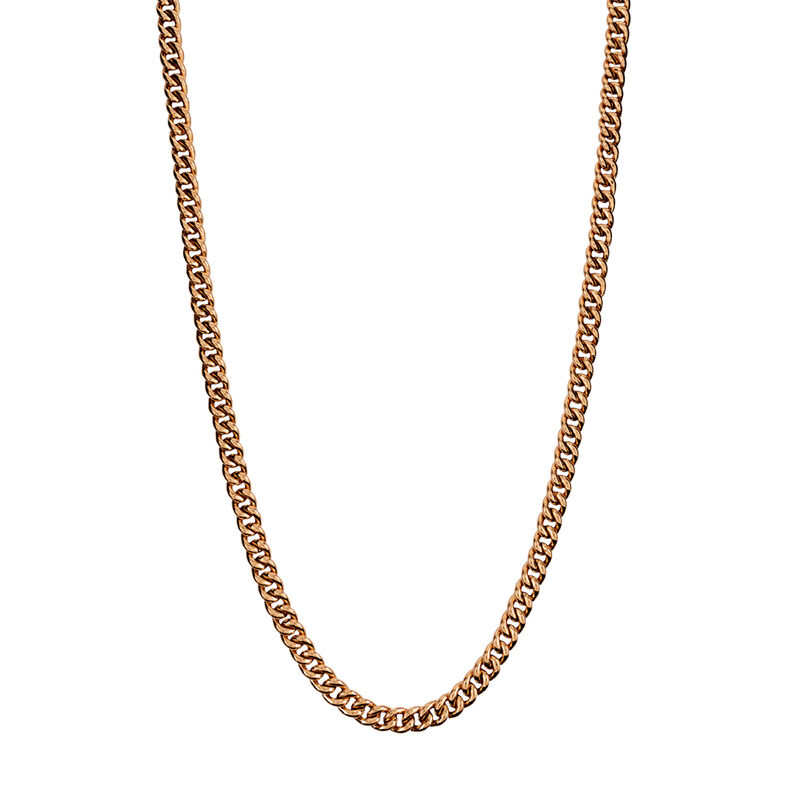 Cadena barbada plata recubierta oro rosa, J00491-03-65, hi-res