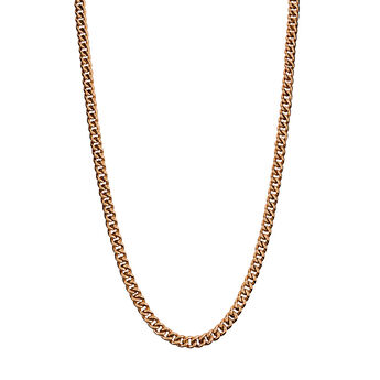 Long rose gold plated barbed chain, J00491-03-85, hi-res