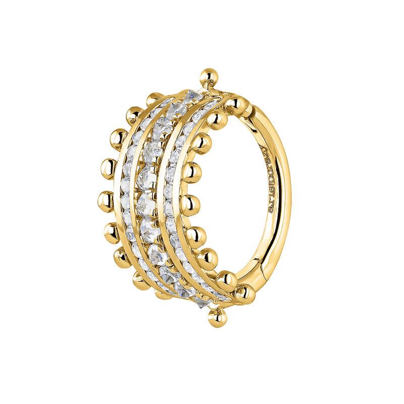 9kt gold sapphires hoop earring, J04697-02-WS-H, hi-res