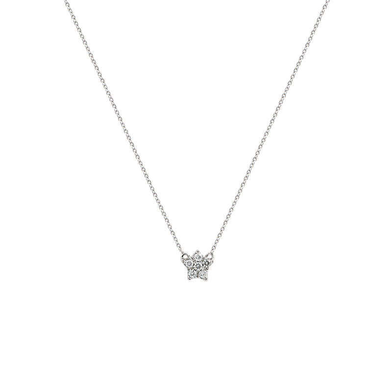 Mini star necklace diamonds 0.05 ct, J01357-01, hi-res