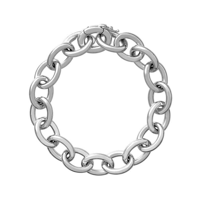 Pulsera forzá oval plata, J01912-01, hi-res
