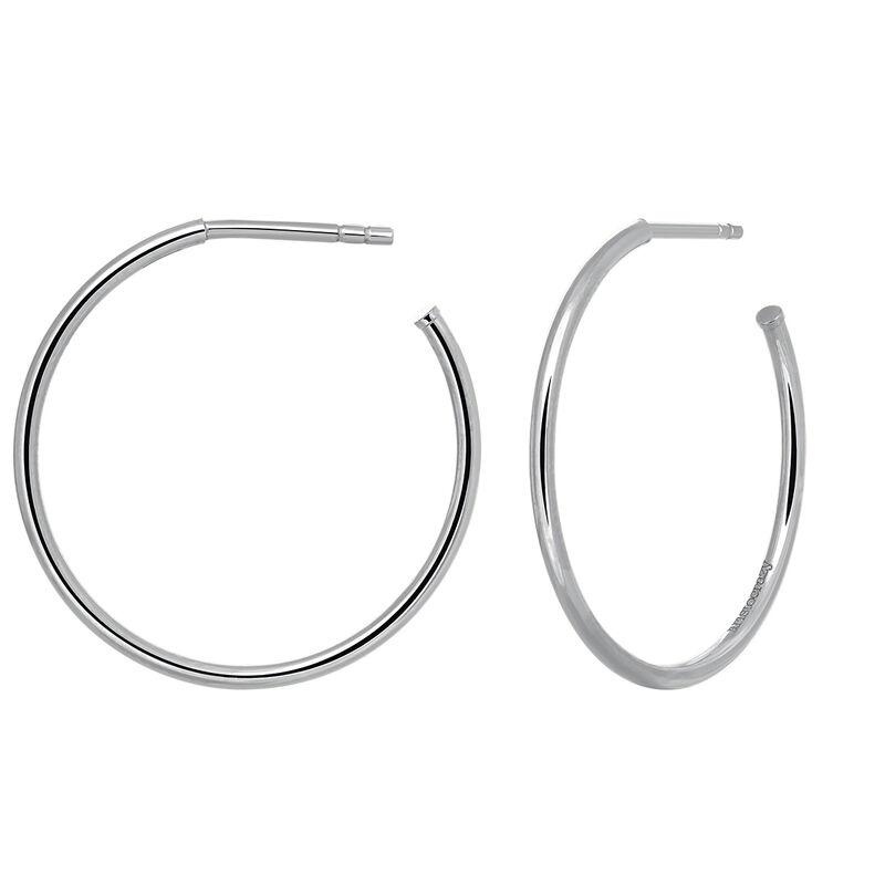 Pendientes aro mediano plata, J03519-01, hi-res