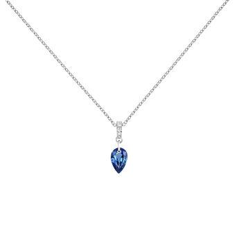 Colgante zafiro y diamantes en oro blanco, J04083-01-BS, hi-res