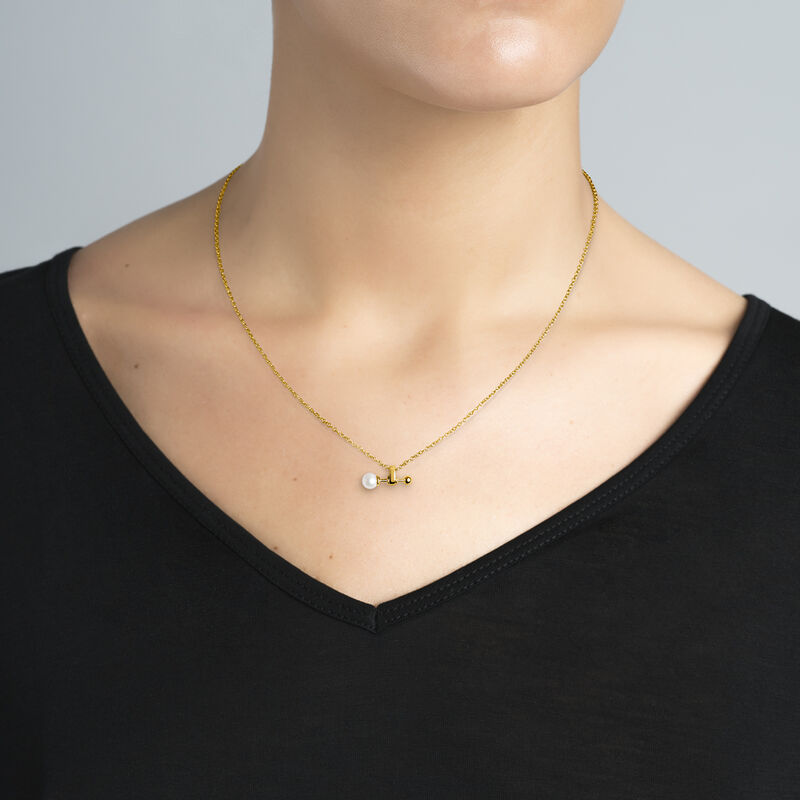 Colgante perla plata recubierta oro, J04025-02-WP, hi-res