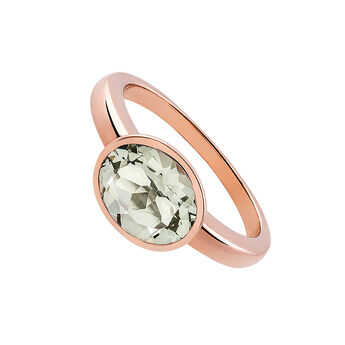 Medium rose gold plated quartz solitaire, J03230-03-GQ, hi-res
