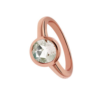 Large rose gold ring with green quartz, J01287-03-GQ, hi-res