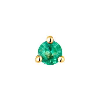 Pendiente mediano esmeralda oro, J04346-02-EM-H, hi-res