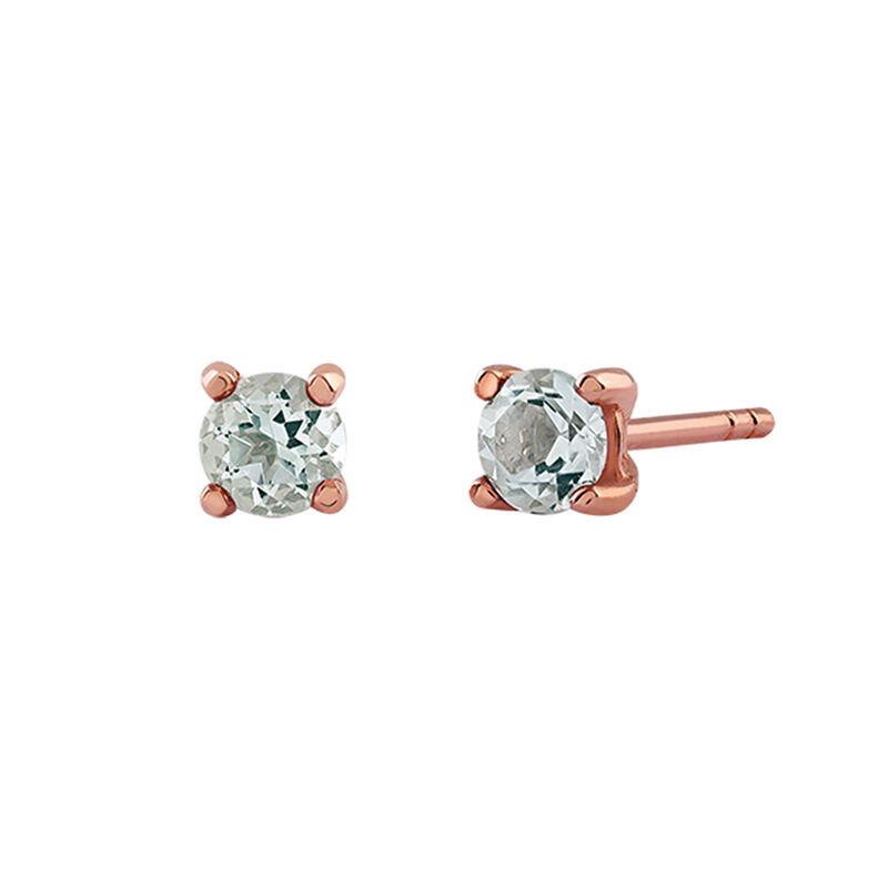 Rose gold plated quartz prongs earrings, J03115-03-GQ, hi-res