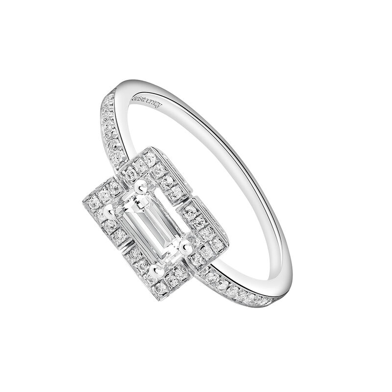 Anillo rectangular topacio diamante plata , J03773-01-WT-GD, hi-res