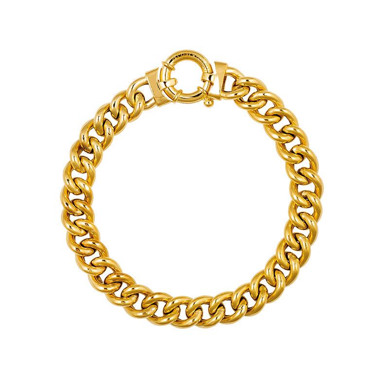 Pulsera barbada plata recubierta oro, J01928-02, hi-res