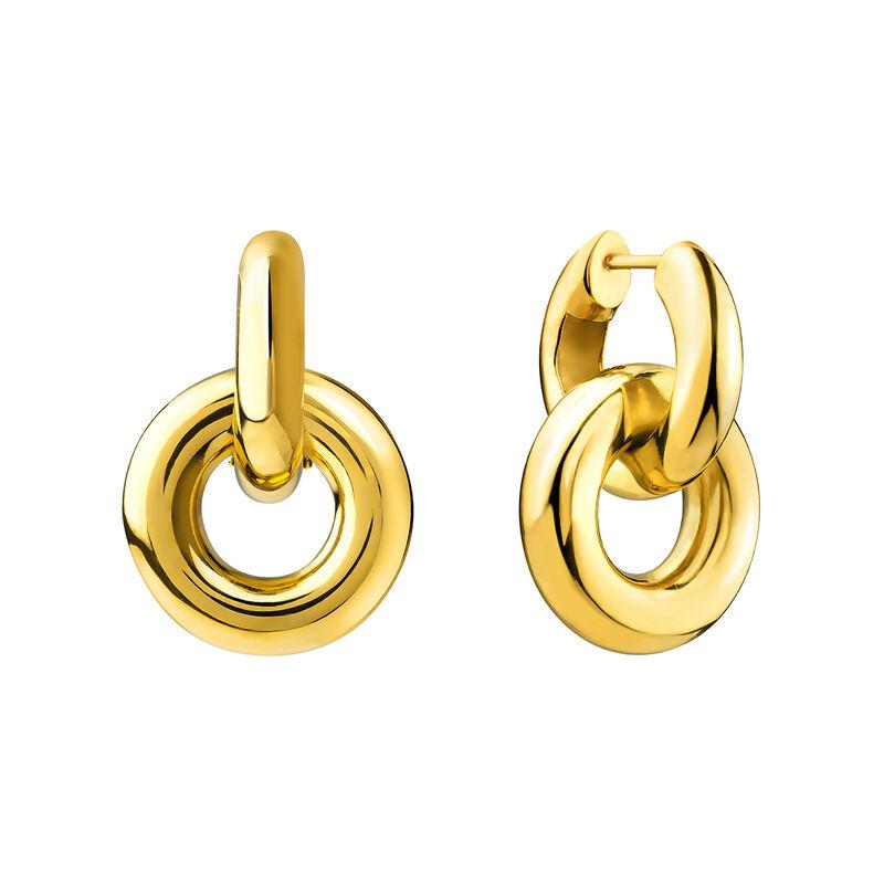Pendientes de aro doble hilo grueso oro, J03655-02, hi-res