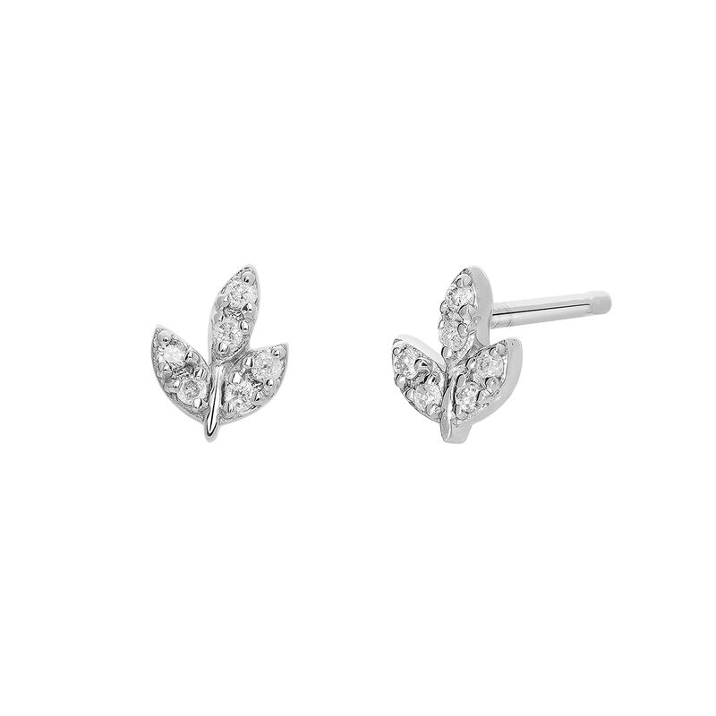 Ear jackets hoja diamantes plata , J03716-01-GD, hi-res
