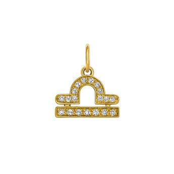 Libra gold pendant, J03605-02-WT, hi-res