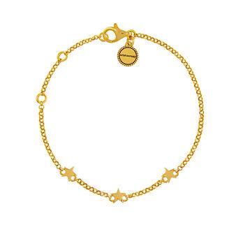 Mini gold plated stars bracelet, J01898-02, hi-res