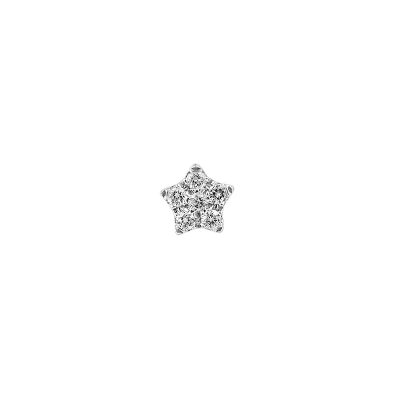 Pendiente mini diamantes 0,05 ct oro blanco, J01353-01-H, hi-res