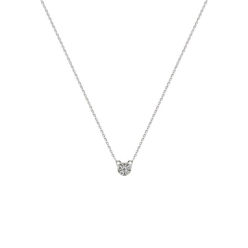 Colgante roseta diamante oro blanco, J01358-01, hi-res