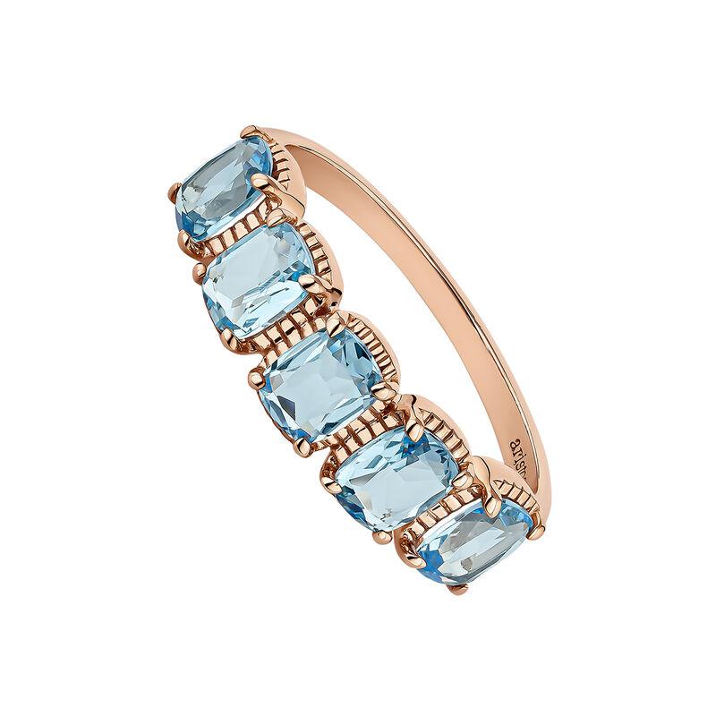 Rose gold plated topaz ring, J04675-03-SB, hi-res