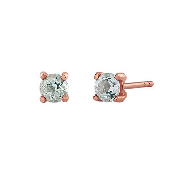 Clous d'oreilles griffes quartz or rose, J03115-03-GQ, hi-res