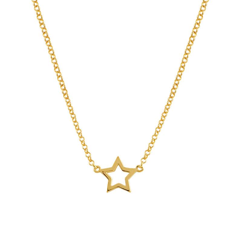Colgante estrella hueca oro, J00659-02, hi-res