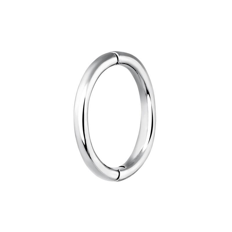 Pendiente piercing aro grande oro blanco, J03844-01-H, hi-res