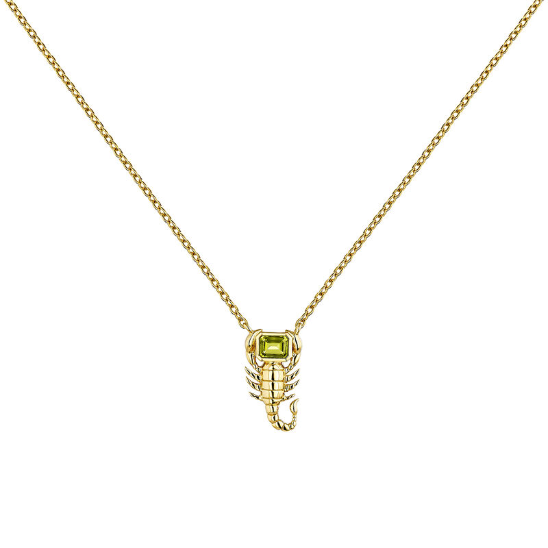 Gold plated scorpion necklace, J04296-02-PE, hi-res
