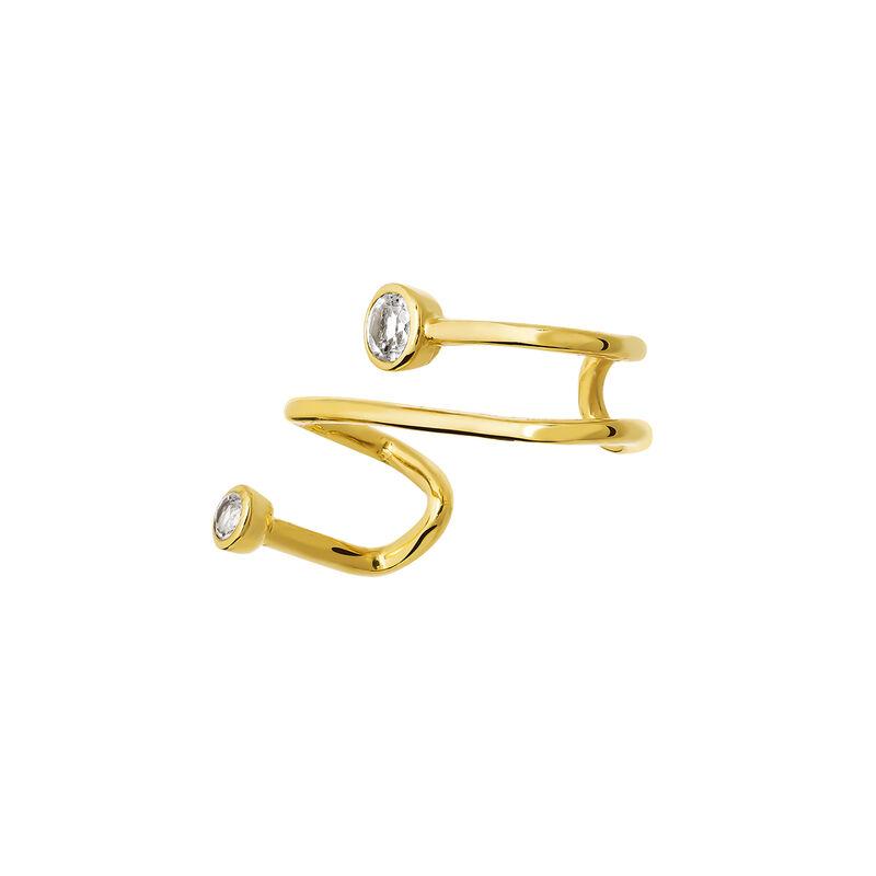 Pendiente piercing cartílago topacios oro, J03678-02-WT, hi-res
