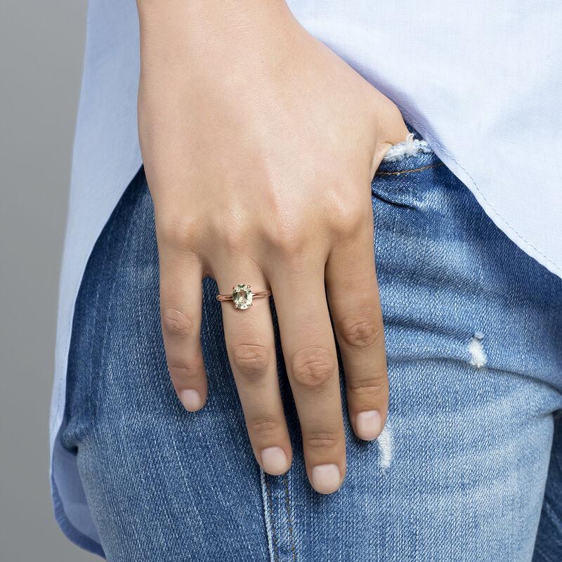 Anillo cuarzo oval mediano plata recubierta oro rosa, J03817-03-GQ, hi-res