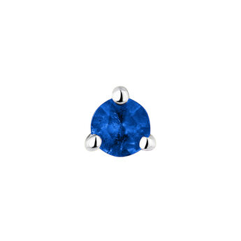 Medium white gold sapphire earring, J04346-01-BS-H, hi-res