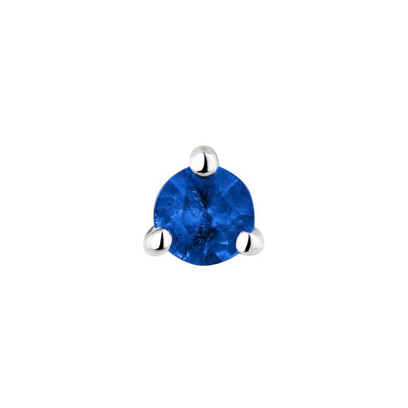 Medium white gold sapphire earring, J04346-01-BS-H, hi-res