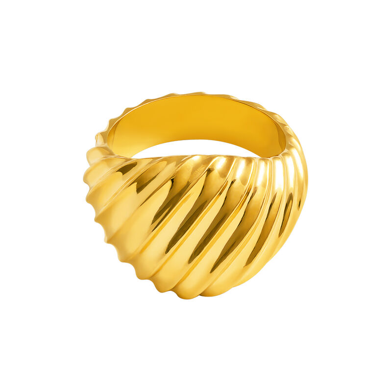 Anillo sello gallonado oro, J03337-02, hi-res