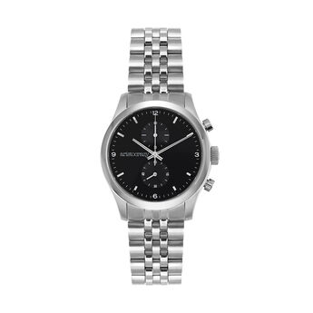 Reloj Moustique armis esfera negra, W37A-STSTBL-AXST, hi-res