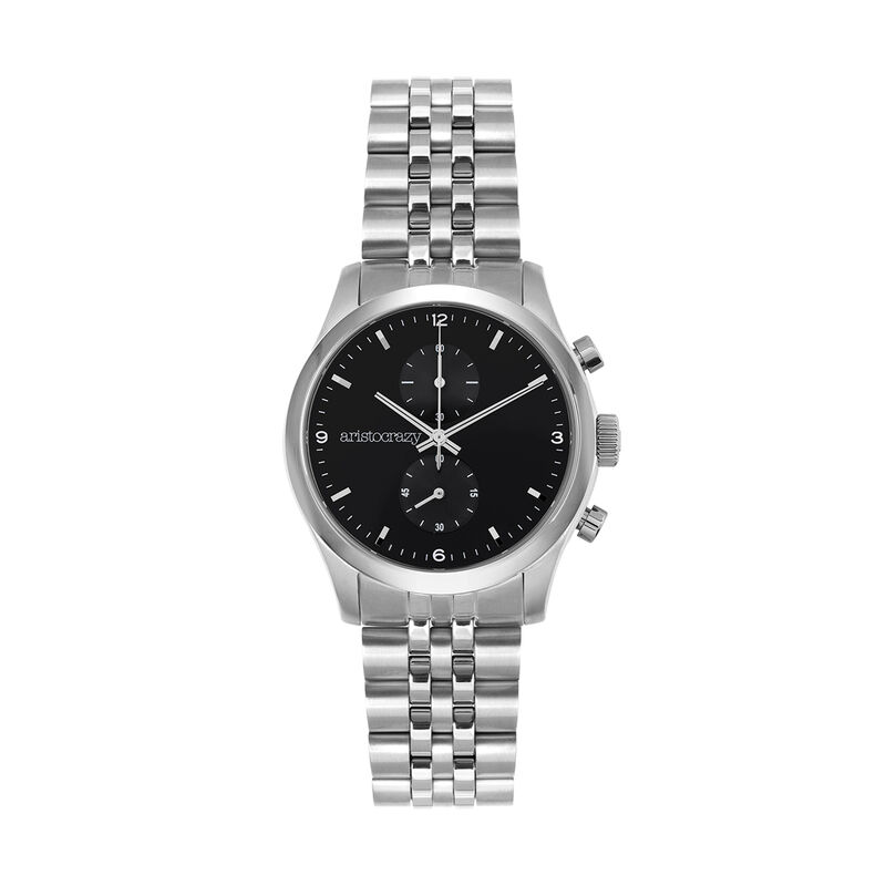 Montre Moustique bracelet cadran noir, W37A-STSTBL-AXST, hi-res