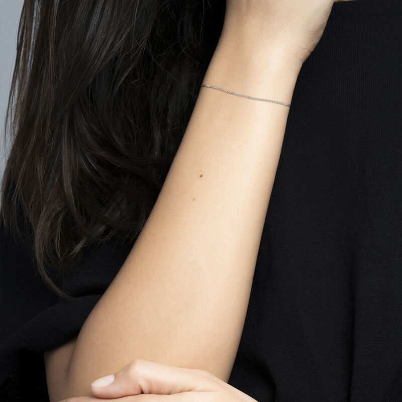 Silver simple bracelet, J03436-01, hi-res