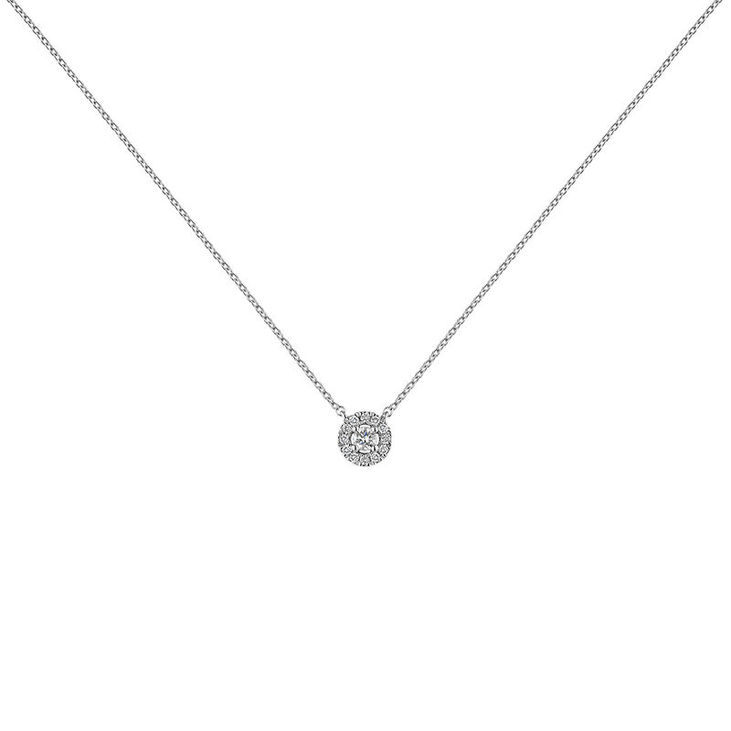 White gold necklace edging diamond 0,05 ct, J04221-01-05-05, hi-res