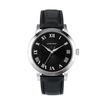Brera watch strap black face, W44A-STSTBL-LEBL, hi-res
