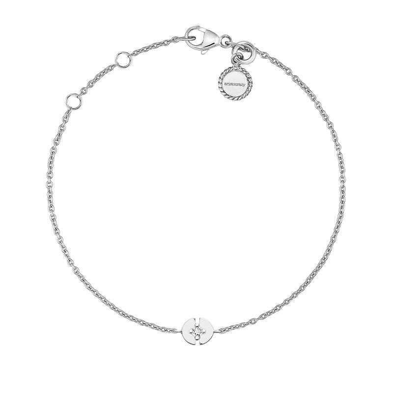 Pulsera círculo topacio plata, J03747-01-WT, hi-res