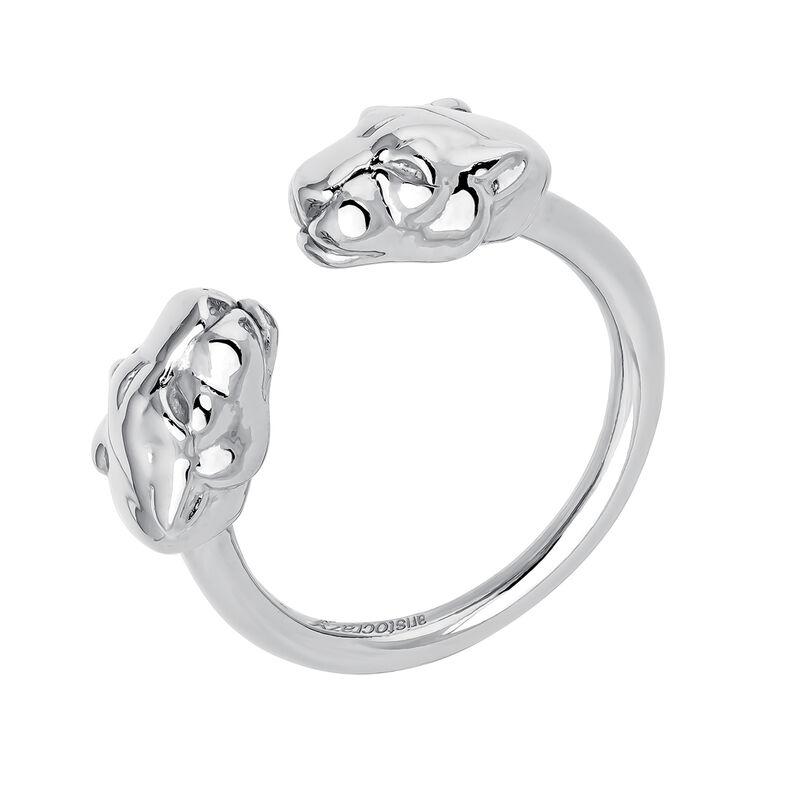 Silver panther ring, J04193-01, hi-res