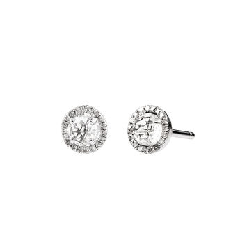 Silver border earrings with topaz, J01307-01-WT, hi-res