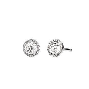 Silver border earrings topaz, J01307-01-WT, hi-res